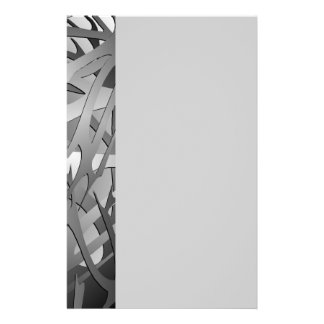 Silver & Gray Abstract Branches Stationery