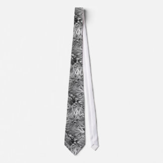 Silver & Gray Abstract Branches Tie