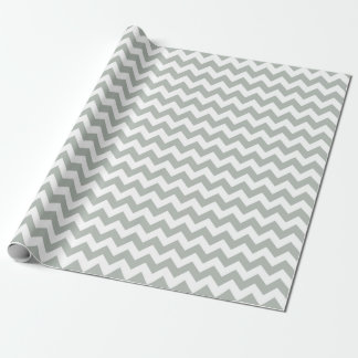 Silver Gray Chevron Zigzag Wrapping Paper