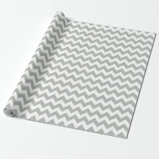 Silver Gray Chevron Zigzag Wrapping Paper