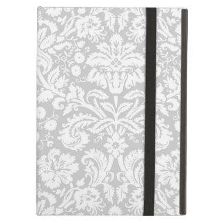 Silver gray damask pattern iPad air case