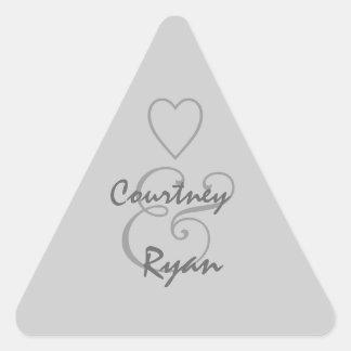 Silver Gray Envelope Seal Wedding Stickers