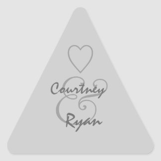 Silver Gray Envelope Seal Wedding Stickers