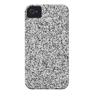 Silver Gray Faux Glitter Case-Mate iPhone 4 Case