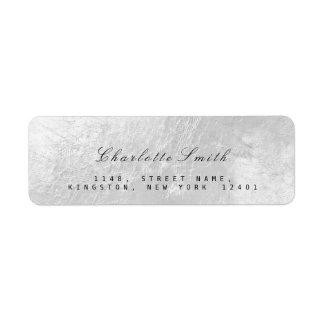 Silver Gray Foil Metal Return Address Labels