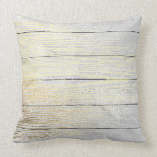 Silver Gray Foxier Gold Minimal Wood Cottage Home Cushion