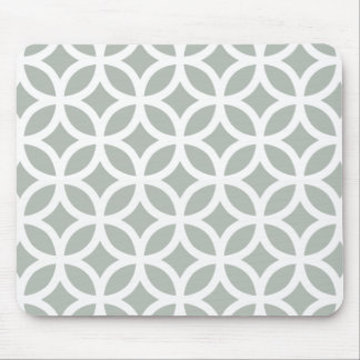 Silver Gray Geometric Mouse Mat