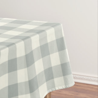 Silver Gray Gingham Pattern Check Tablecloth