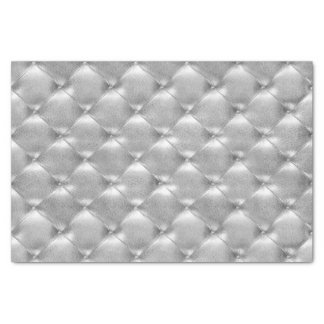 Silver Gray Glam  Metallic Tufted Leather Lux VIP Tissue Paper