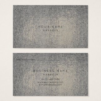 Silver Gray Gold Sepia Metallic Appointment Card