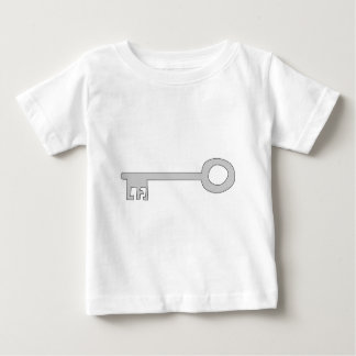 Silver Gray Key on White. Baby T-Shirt