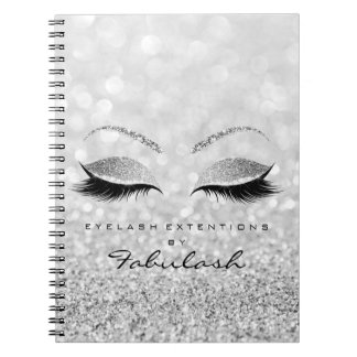 Silver Gray Lashes Glitter Eyes Makeup Beauty1 Notebook