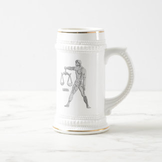 Silver / Gray Libra Zodiac Custom Stein Coffee Mug