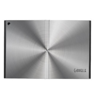 Silver Gray Metallic -Shiny Stainless Steel Look Cover For iPad Air