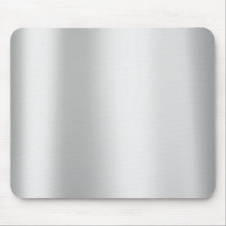 Silver Gray Monochrom Minimal Gold Metallic Steel Mouse Mat