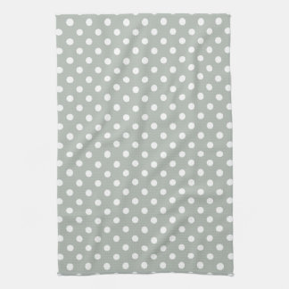 Silver Gray Polka Dot Pattern Kitchen Towels