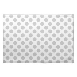 Silver Gray Polka Dots - Placemate Place Mat