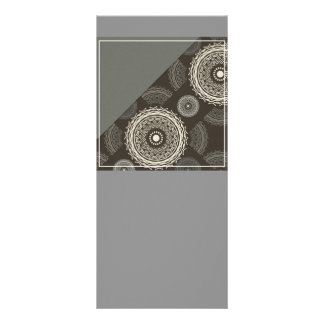 Silver Gray Taupe Circles Abstract Custom Rack Cards