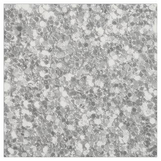 Silver Gray Tones Glitter Pattern Fabric