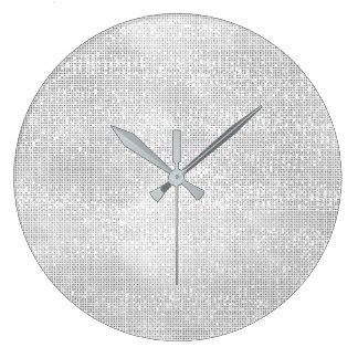 Silver Gray White Sequin Metallic Diamond Sparkly Large Clock