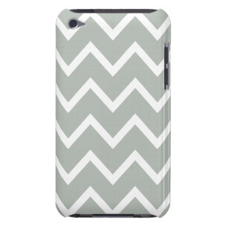 Silver Gray Zig Zag Chevron Barely There iPod Covers