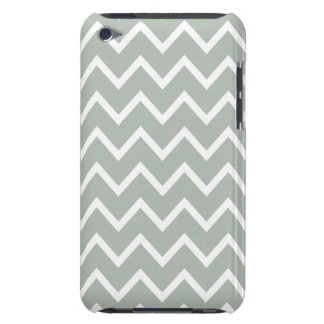 Silver Gray Zig Zag Chevron iPod Touch Covers
