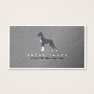 Silver Great Dane Business Card