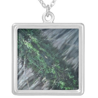 Silver Green Cyprus Tree Necklace