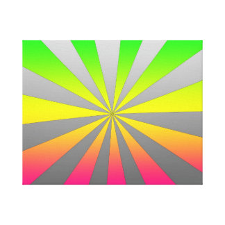 Silver Green Pink burst Canvas Prints