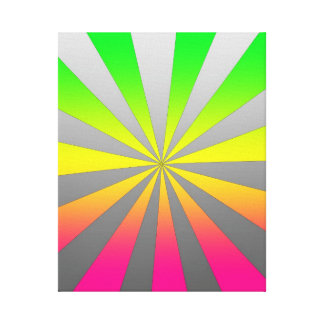 Silver Green Pink burst Gallery Wrap Canvas