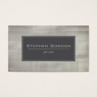 Silver grey and black on sepia business card
