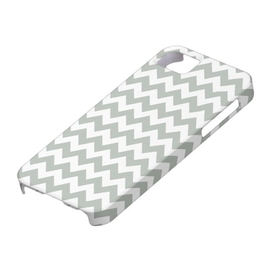 Silver Grey Chevron iPhone 5/5S Case