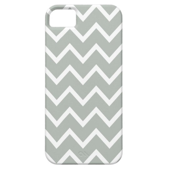 Silver Grey Chevron Iphone 5 Case