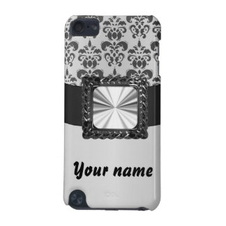 Silver grey damask customizable iPod touch 5G cover