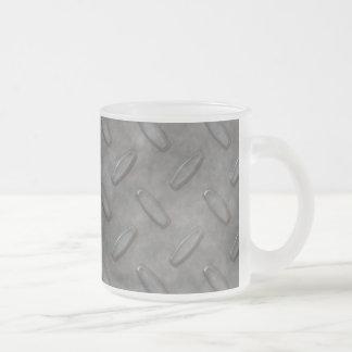 Silver Grey Diamond Plate Textured Mug