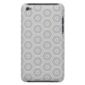 Silver Grey Hexagon Geometric Barely There iPod Covers