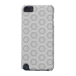 Silver Grey Hexagon Geometric iPod Touch 5G Covers