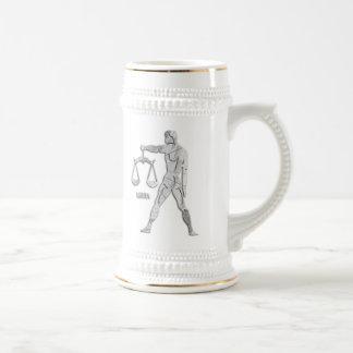 Silver / Grey Libra Zodiac Custom Stein Coffee Mug