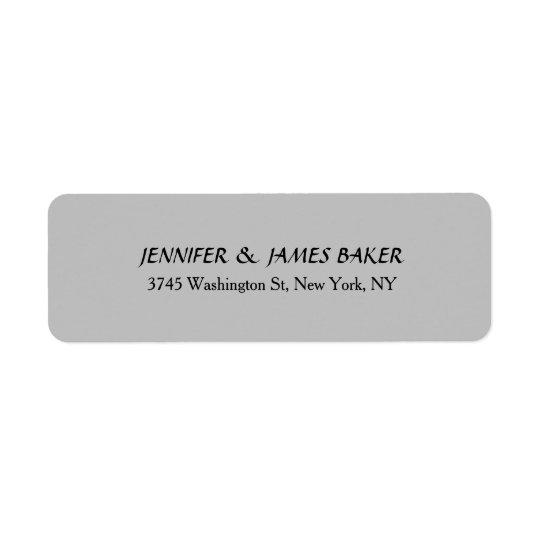 Silver Grey Minimalist Plain Modern Family Name