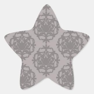 silver grey ornate damask pattern sticker