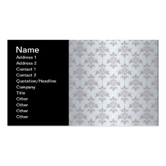 Silver Grey Pale Damask Pattern Business Card Templates