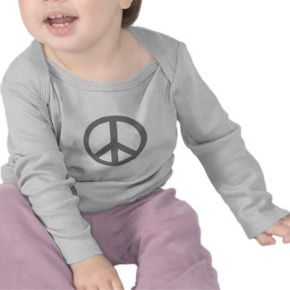 Silver Grey Peace Symbol Products T-shirts