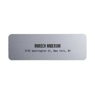 Silver Grey Professional Return Address Label
