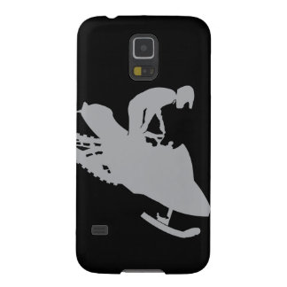 Silver Grey Snowmobiler Case For Galaxy S5