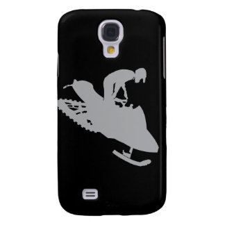 Silver Grey Snowmobiler Galaxy S4 Case