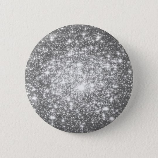 Silver Grey Sparkle 6 Cm Round Badge