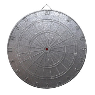 SILVER Grey Sparkle : Leather Look Finish Dartboard