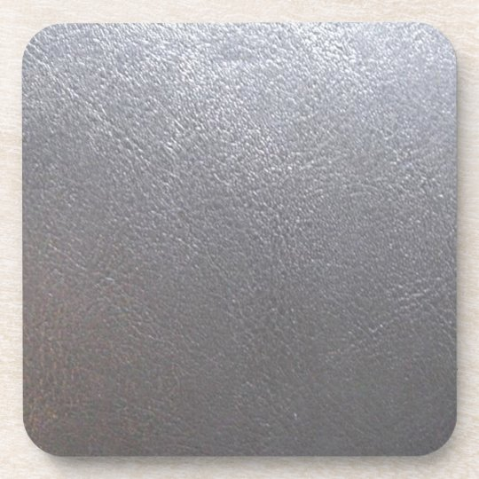 SILVER Grey Sparkle : Leather Look Finish Drink