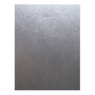 SILVER Grey Sparkle : Leather Look Finish Postcard