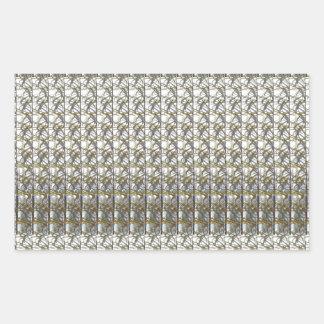 Silver Grey Stripes Template DIY add Text Photo Rectangular Sticker